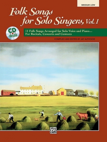 Folk Songs For Solo Singers Vol.1 Medium Low Voice Book & CD (Althouse)