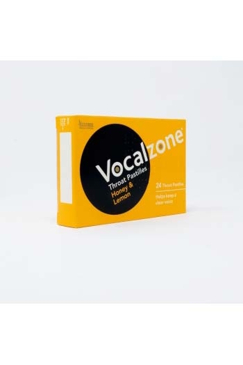 Vocalzone Honey & Lemon Throat Pastilles - Pack Of 24
