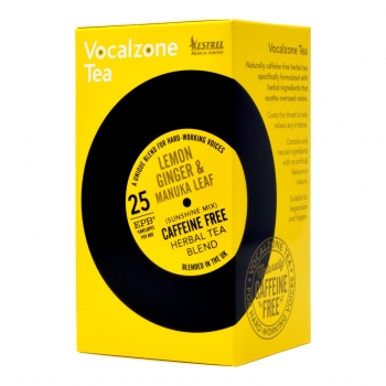 VocalZone Tea: Sunshine Mix: Lemon Ginger & Manuka Leaf: 25 Teabags