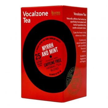 VocalZone Tea: Classic Mix: Myrrh & Mint: 25 Teabags