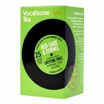 VocalZone Tea: Singers Mix: Red Sage & Fennel: 25 Teabags
