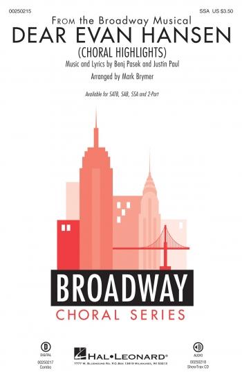 Dear Evan Hansen: Choral Highlights: Vocal: SSA & Piano