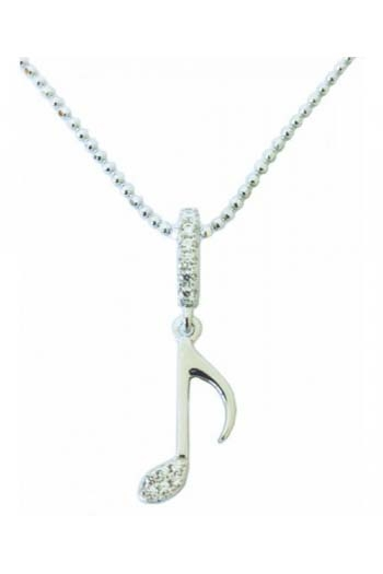 Sterling Silver Quaver Pendant With Stones