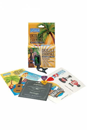 Ukulele Accessory Pack By Mahalo (Tuner Strings Picks Stickers)
