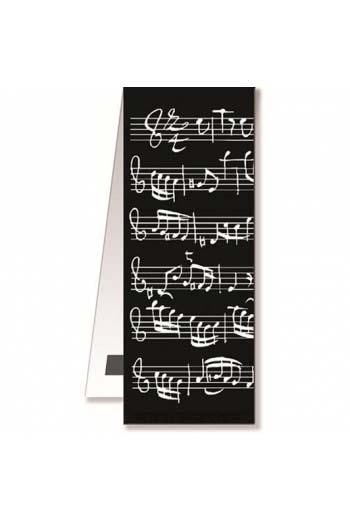 Magnetic Bookmark - Black Sheet Music