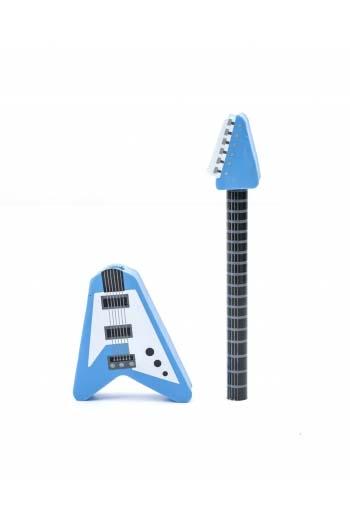 Rockin' Guitar Pencil & Eraser - Red Or Blue