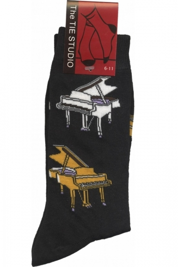 Socks With Piano Design