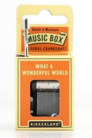Hand Crank Music Box: What A Wonderful World