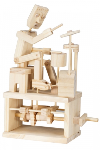 Wooden Moving Model Kit By Timberkits - Drummer