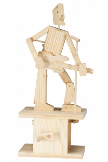 Wooden Moving Model Kit By Timberkits - Guitar Player
