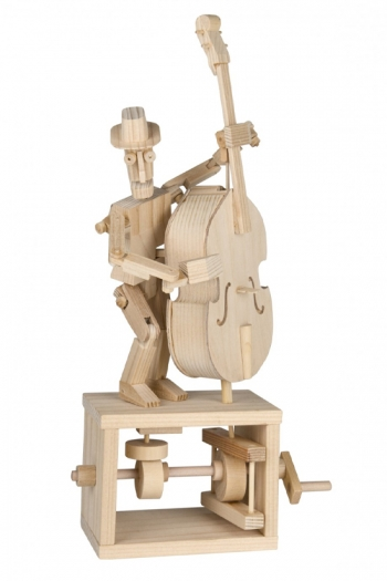 Wooden Moving Model Kit By Timberkits - Double Bass Player