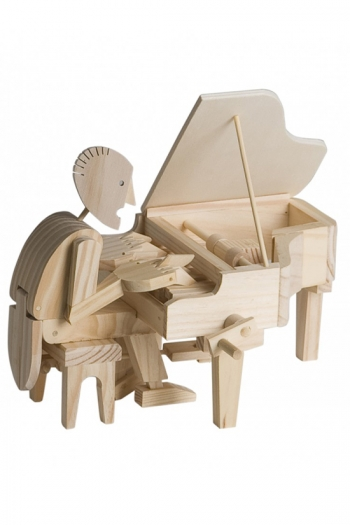 Wooden Moving Model Kit By Timberkits - Piano Player