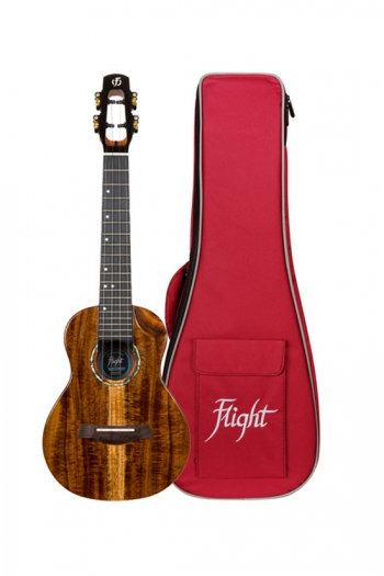 Flight: Spirit All Solid Concert Electro Ukulele - All Solid Acacia (With Bag)