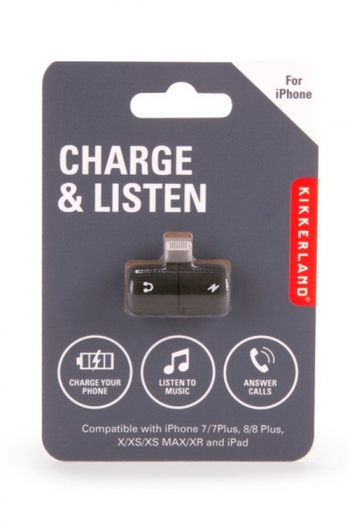 Charge And Listen: 2-in-1 Phone Charger And Headphone Splitter