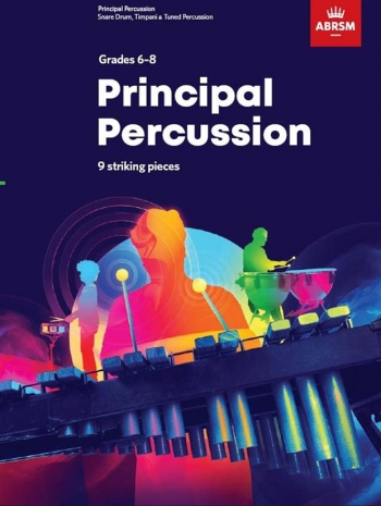 ABRSM: Principal Percussion: 9 Striking Pieces: Grades 6-8: From 2020
