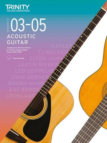 Trinity College London Acoustic Guitar Exam Pieces 2020-2023 Grades 3-5