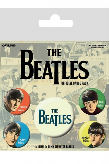 The Beatles - Official Badge Pack
