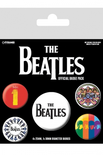 The Beatles - Official Badge Pack (Black)