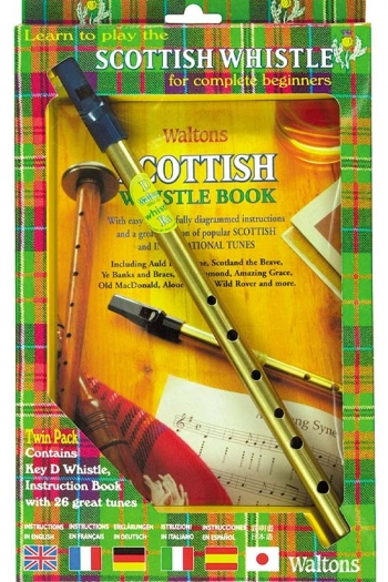 Scottish Tin Whistle Pack - Whistle And Book (Waltons)