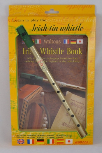 Irish Tin Whistle Pack - Whistle And Book (Waltons)