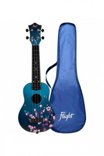 Flight TUS32SAK Travel Ukulele ABS Soprano – Cherry Blossom