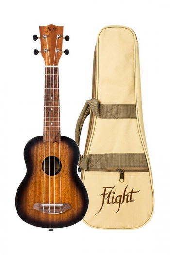 Flight NUS380 Soprano Ukulele - Gemstone Amber (With Bag)