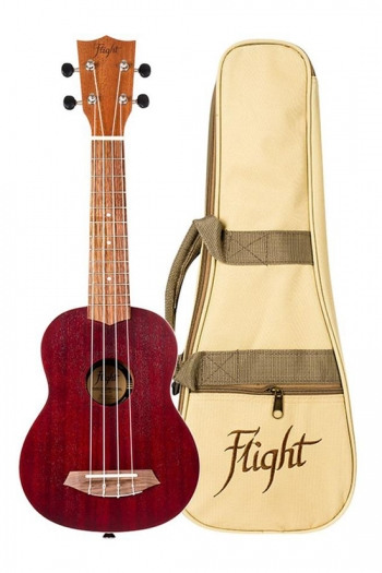 Flight NUS380 Soprano Ukulele - Gemstone Coral (With Bag)