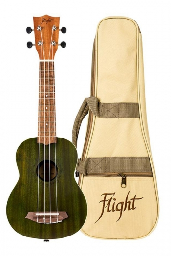 Flight NUS380 Soprano Ukulele - Gemstone Jade (With Bag)