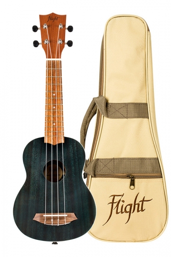 Flight NUS380 Soprano Ukulele - Gemstone Topaz (With Bag)
