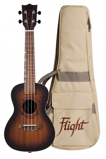 Flight DUC380 Concert Ukulele - Gemstone Amber (With Bag)