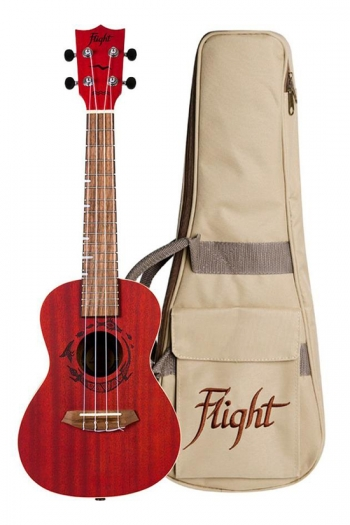Flight DUC380 Concert Ukulele - Gemstone Coral (With Bag)