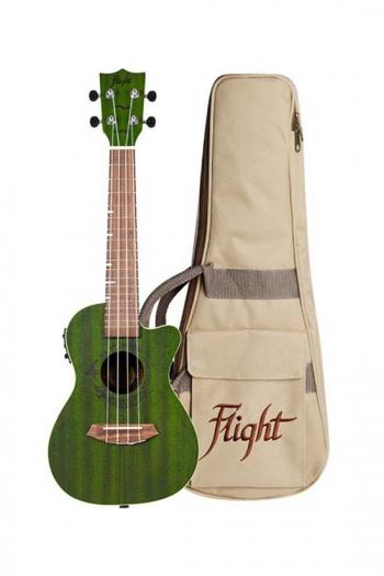 Flight DUC380 CEQ Electric Concert Ukulele - Gemstone Jade (With Bag)