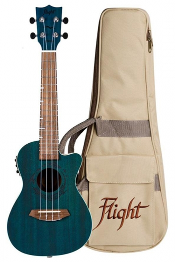 Flight DUC380 CEQ Electric Concert Ukulele - Gemstone Topaz (With Bag)