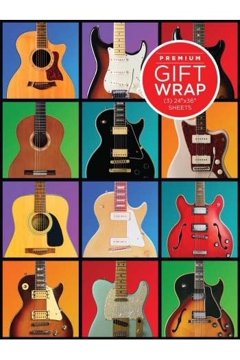 Wrapping Paper - Guitar Retro Theme