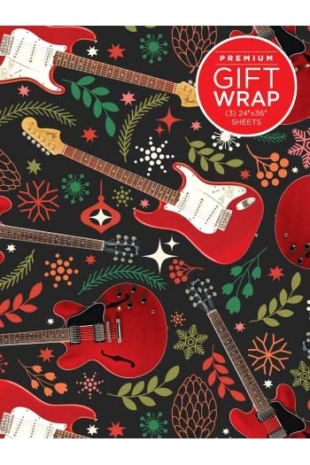 Wrapping Paper - Red Guitar Theme