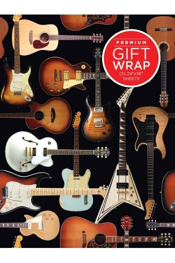 Wrapping Paper - Guitar Collage Theme