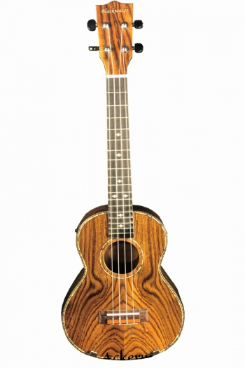 Blackwater Tenor Electro Acoustic Ukulele: Butterfly Wood (With Bag)