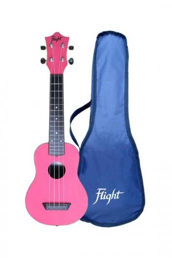 Flight Travel Soprano Ukulele ABS In Pink