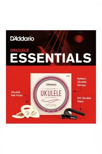 Concert Ukulele Essentials Kit - Strings & Capo & Plectrums (D'Addario)