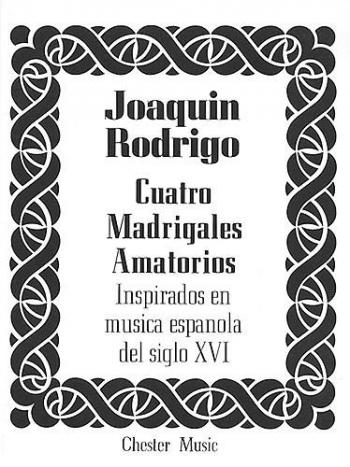 Cuatro Madrigales Amatorios Medium Voice And Piano