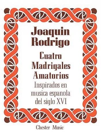 Cuatro Madrigales Amatorios High Voice And Piano