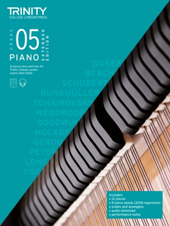 Trinity College London Piano Exam Pieces & Exercises 2021-2023 Grade 5 (Extended Edition)