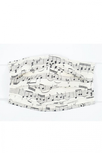 Face Covering Music Design Sheet Music(Cotton) 18,5*9,5 Cm