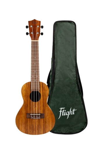 Flight: NUC200 Concert Ukulele - Teak (With Bag)