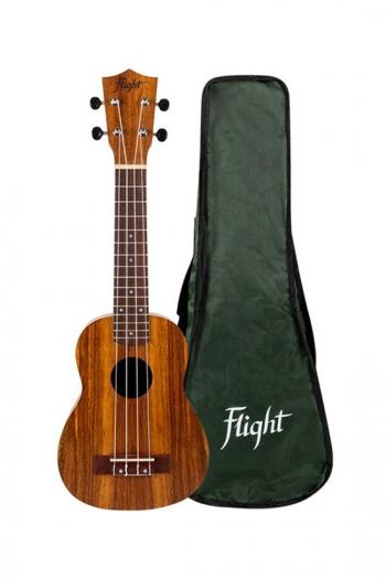 Flight: NUS200 Soprano Ukulele - Teak (With Bag)