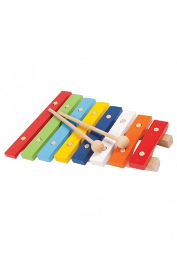 Xylophone - PP World 8 Note Coloured Wooden Keys With Carry Bag