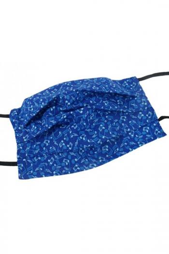 Face Covering Music Design Blue (Cotton) 18,5*9,5 Cm