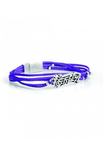 Purple Music Score Small Leather Bracelet