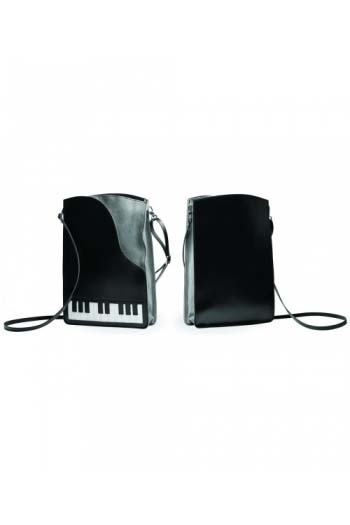 Leather Shoulder Bag - Piano Design