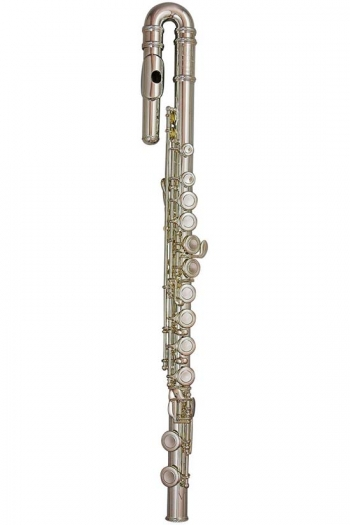 Trevor James 10x Flute Outfit - Curved & Straight Heads. CS 925 Silver Lip Plate And Riser